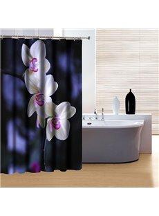 Classic Concise Design Graceful Flowers 3D Shower Curtain