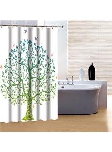 Fashion Pretty Concise Artistic Tree Print 3D Shower Curtain