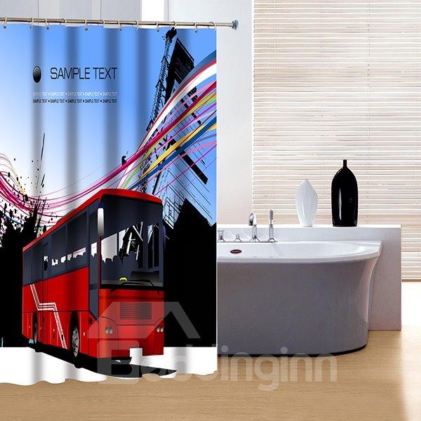 Creative Design Modern City Life 3D Shower Curtain