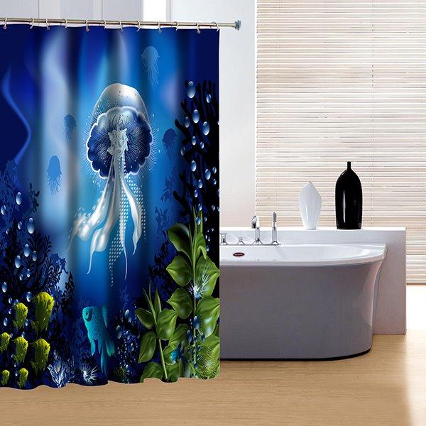 Fancy Beautiful Underwater World 3D Shower Curtain