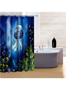 Fancy Beautiful Underwater World 3D Shower Curtain