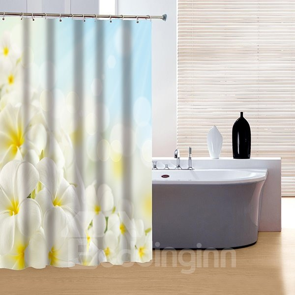 Glamerous Fancy Flower Sea Print 3D Shower Curtain