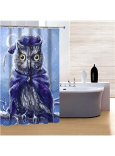 Creative Design Super Cool Night Owl 3D Shower Curtain