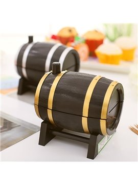 Creative Wine Cask Design Toothpick Holder Dinner Table Decoration