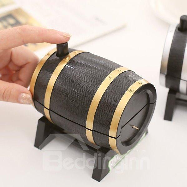 Creative Wine Cask Design Toothpick Holder Dinner Table Decoration