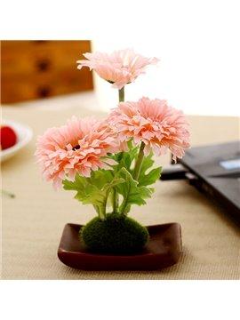 Fabulous Silk Flower Daisy Desktop Decoration Artificial Flower Set