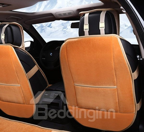 Comfortable Pure Colored Short Plush a Car Seat Cover