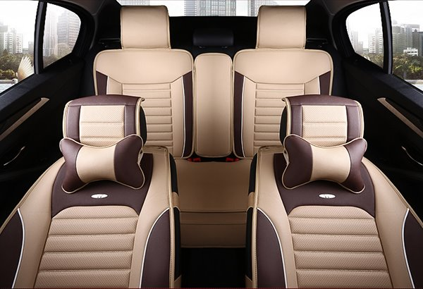 Particular Sporty PU Leather Material And Most Popular Universal Car Seat Cover