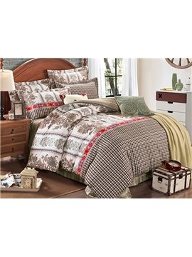Refreshing Exquisite Jacquard Design Cotton 4-Piece Duvet Cover Sets