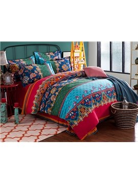Esthetical Jacquard Design Cotton 4-Piece Duvet Cover Sets