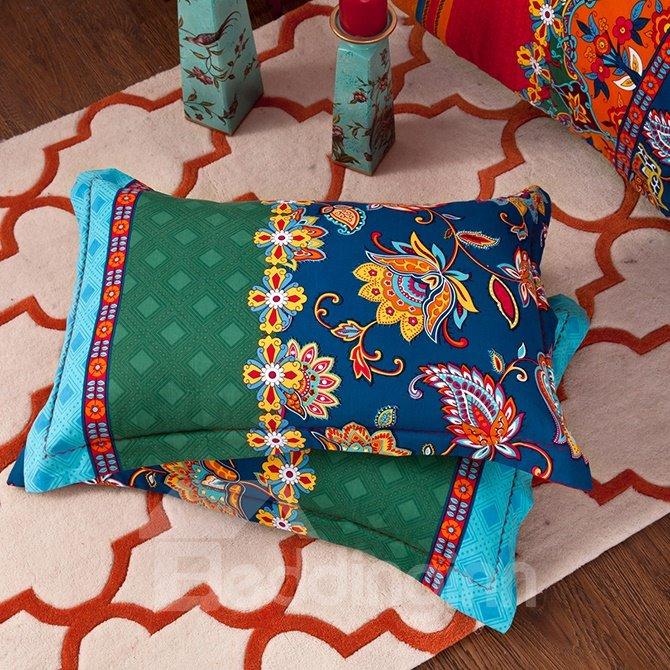 Esthetical Jacquard Design Cotton 4-Piece Duvet Cover Sets
