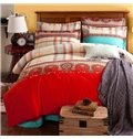 American Style Exquisite Jacquard Design Cotton 4-Piece Duvet Cover Sets