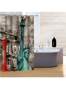 Classic Noble the Statue of Liberty Print 3D Shower Curtain