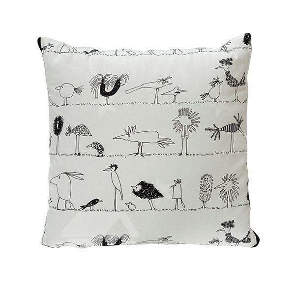 Fashionable Quillow Cartoon Birds Designed Cotton Blanket Car Pillow