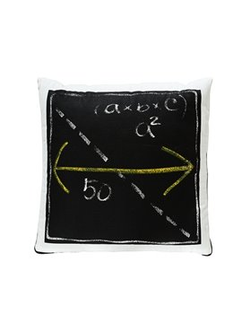 Fashionable Quillow Geometry Designed Cotton Blanket Car Pillow