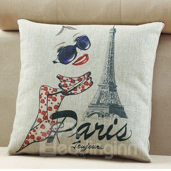Comfortable Quillow Paris Spring Linen Blanket Car Pillow