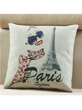 Comfortable Quillow Paris Spring Linen Blanket Car Pillow