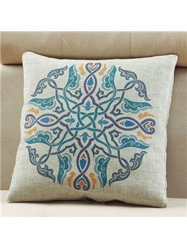 Comfortable Quillow Beautiful Patterned Linen Blanket Car Pillow