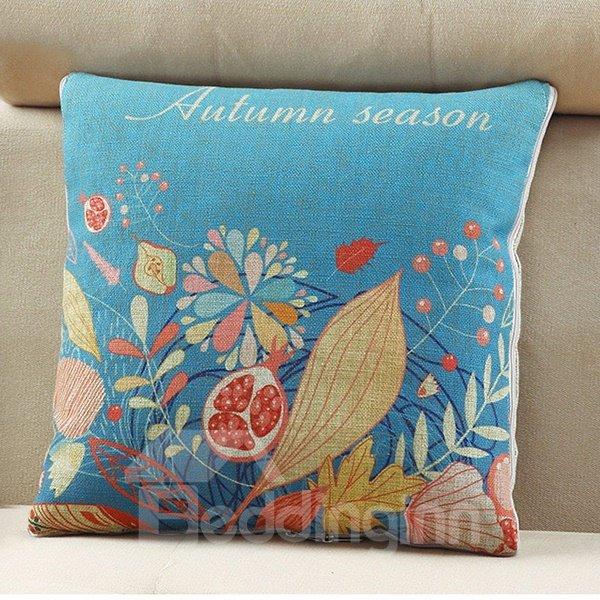Comfortable Quillow Autumn Floral Linen Blanket Car Pillow