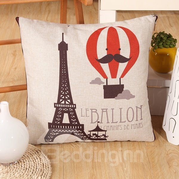 Comfortable Quillow Balloon Patterned Linen Blanket Car Pillow
