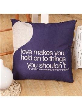 Convertable Quillow Blue Heart Pattern Linen Blanket Car Pillow