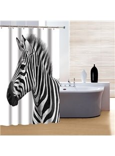Pretty Concise Zebra Print 3D Shower Curtain