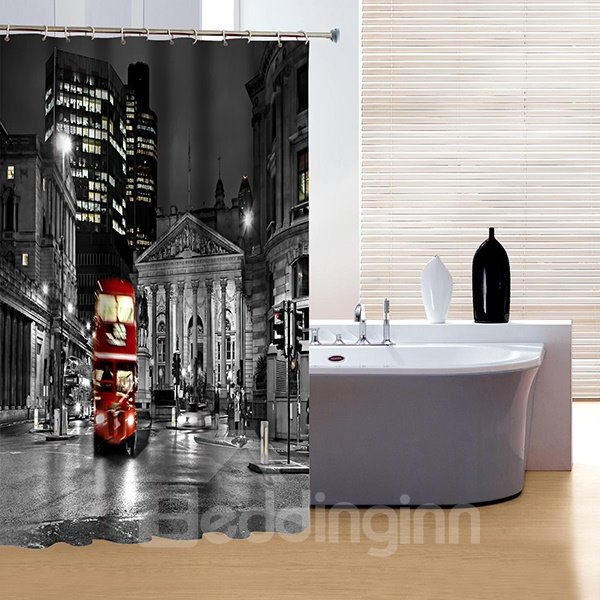 Faddish Creative New York City Print 3D Shower Curtain