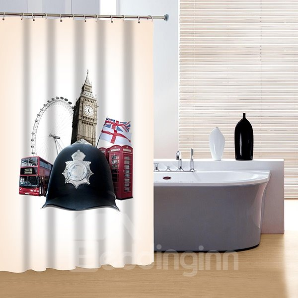 Noble Concise London Elements 3D Shower Curtain
