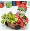 Creative Christmas Theme Candy and Fruit Baskets 1-Set Desktop Decoration