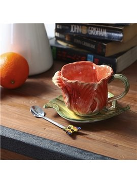 Creative European Style Tulip Design Ceramic Coffee Cup