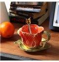 Creative European Style Tulip Design Ceramic Coffee Cup