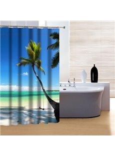Cozy Peaceful Beach View 3D Shower Curtain