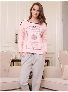 Romantic European Style Concise 100% Cotton Women's Pajamas Sets