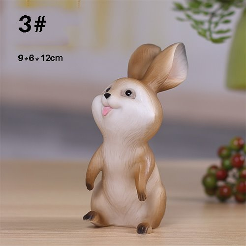 Cute Rabbit 1-Piece Resin Desktop Decoration