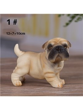 Adroable Pug Dog 1-Piece Resin Desktop Decoration