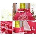 Dreamy Romantic Girl with Butterflies Dress Print Kids Duvet Cover Set