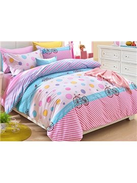 Lovely Colorful Polka Dots Pattern Kids Duvet Cover Set