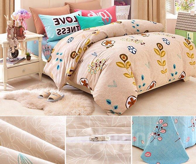 Creative Plants Pattern Kids Cotton Duvet Cover Set