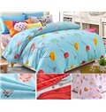 Fresh Summer Flowers Pattern Kids Duvet Cover Set