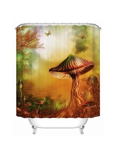 Fairytale Mysterious Mushroom Valley 3D Shower Curtain