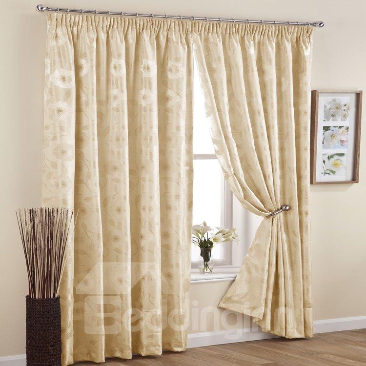 Graceful Light Blocking Pinch Pleat Curtain