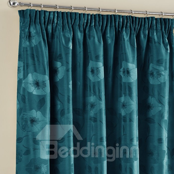 Graceful Jacquard Double Pinch Pleat Curtain