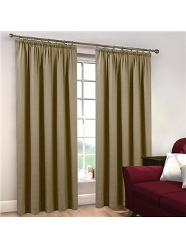 Elegant Polyester Cotton Double Pinch Pleat Curtain