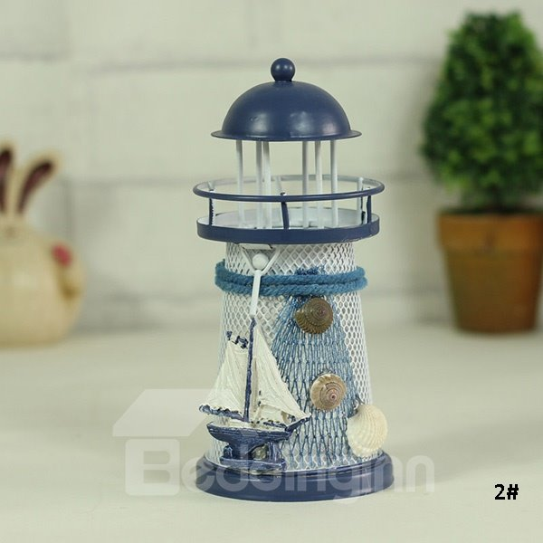 Creative mediterranean style lighthouse design candle for Creative candle holders