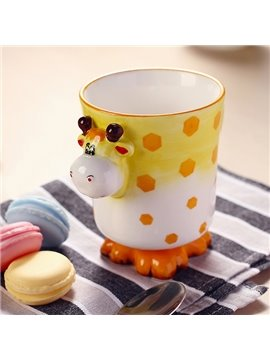Cartoon 3D Giraffe Design Ceramic Coffee Mug