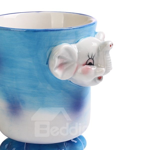 Cartoon 3D Elephant Design Ceramic Coffee Mug