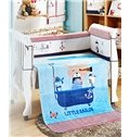 Little Sailor Cute Bear on the Boat Print Baby Blanket