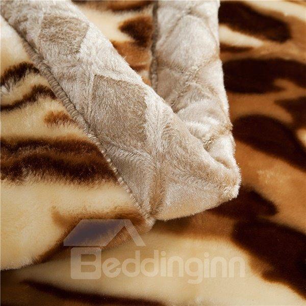 Stylish Leopard Printing Full Size Raschel Blanket