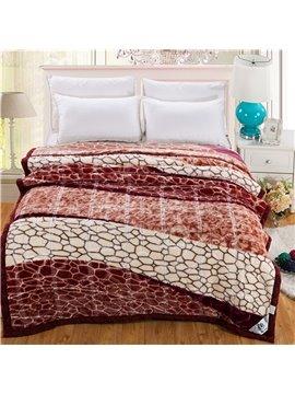 Wild Leopard Printing Warm Lightweight Raschel Blanket
