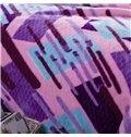Creative Irregular Stripes Printing Classy Raschel Blanket